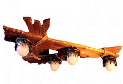 Люстра деревянная